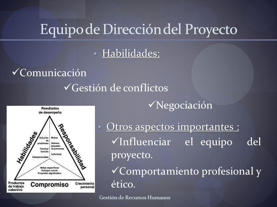 Equipo de Dirección del Proyecto