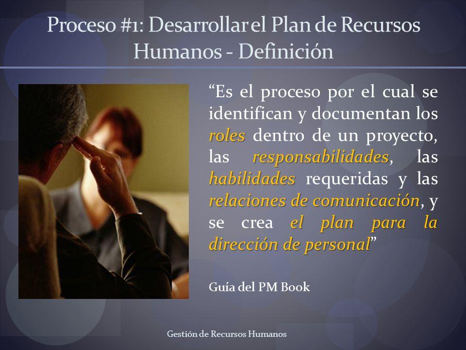 Proceso #1: Desarrollar el Plan de Recursos Humanos - Definición