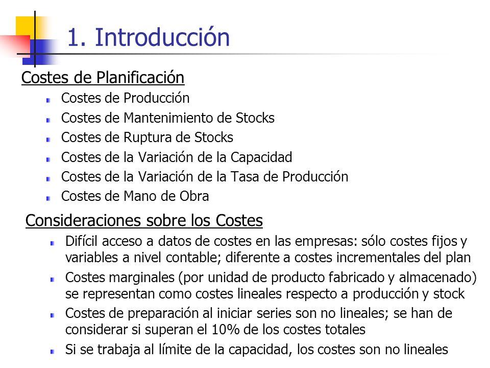 1. Introducción Costes de Planificación