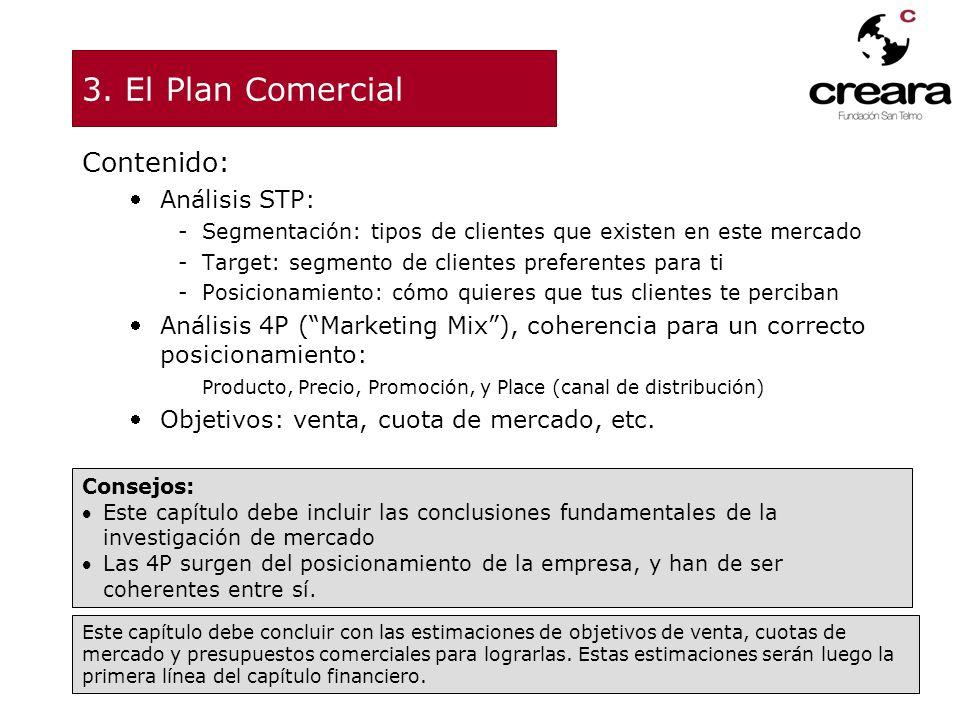 3. El Plan Comercial Contenido: Análisis STP:
