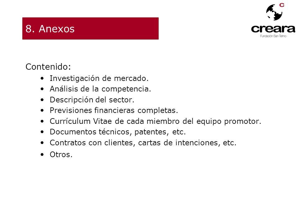 8. Anexos Contenido: Investigación de mercado.