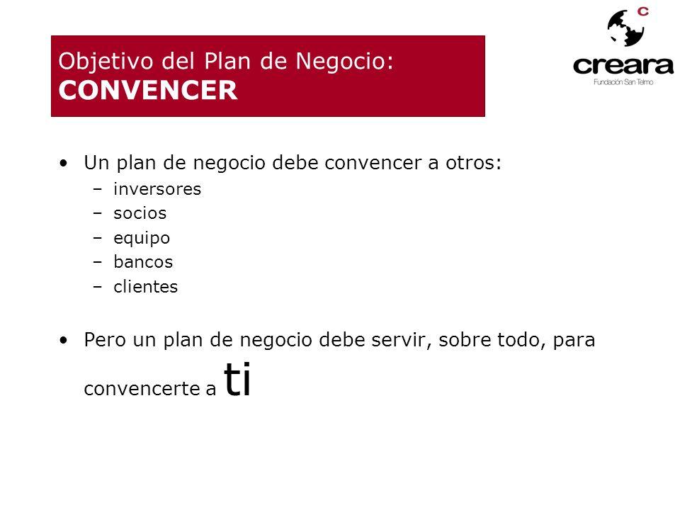 Objetivo del Plan de Negocio: CONVENCER