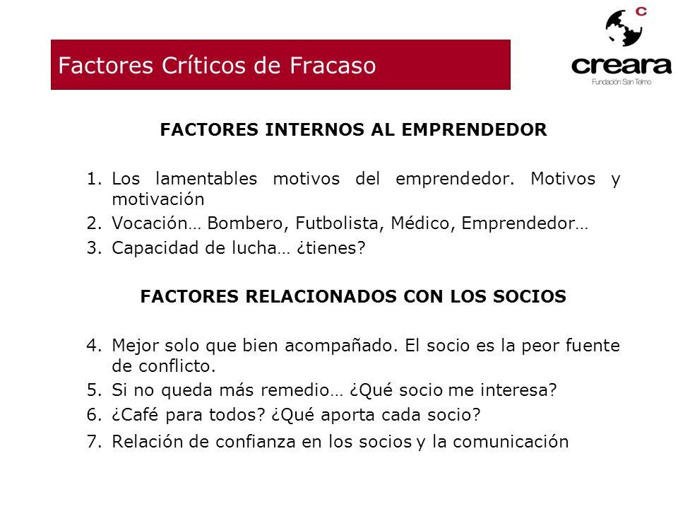 Factores Críticos de Fracaso