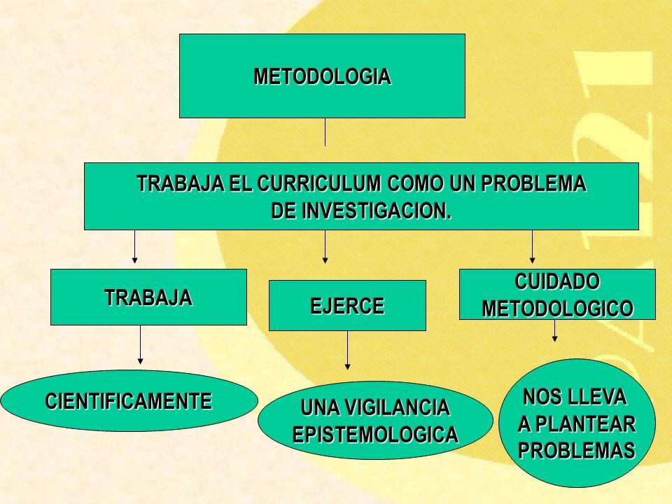 TRABAJA EL CURRICULUM COMO UN PROBLEMA