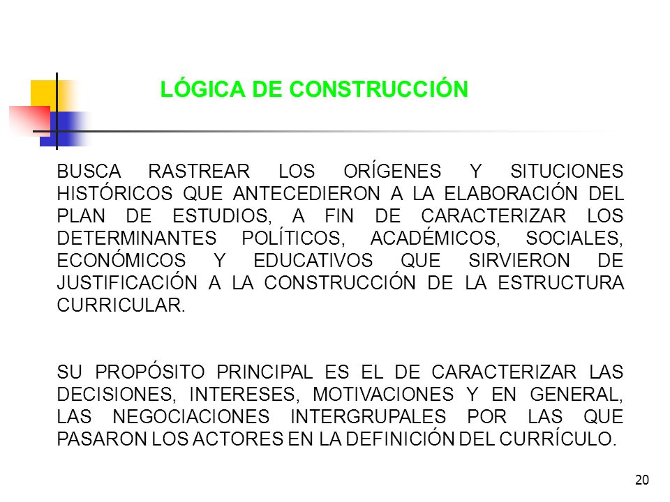 LÓGICA DE CONSTRUCCIÓN