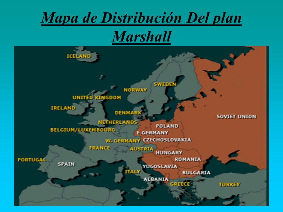 Mapa de Distribución Del plan Marshall