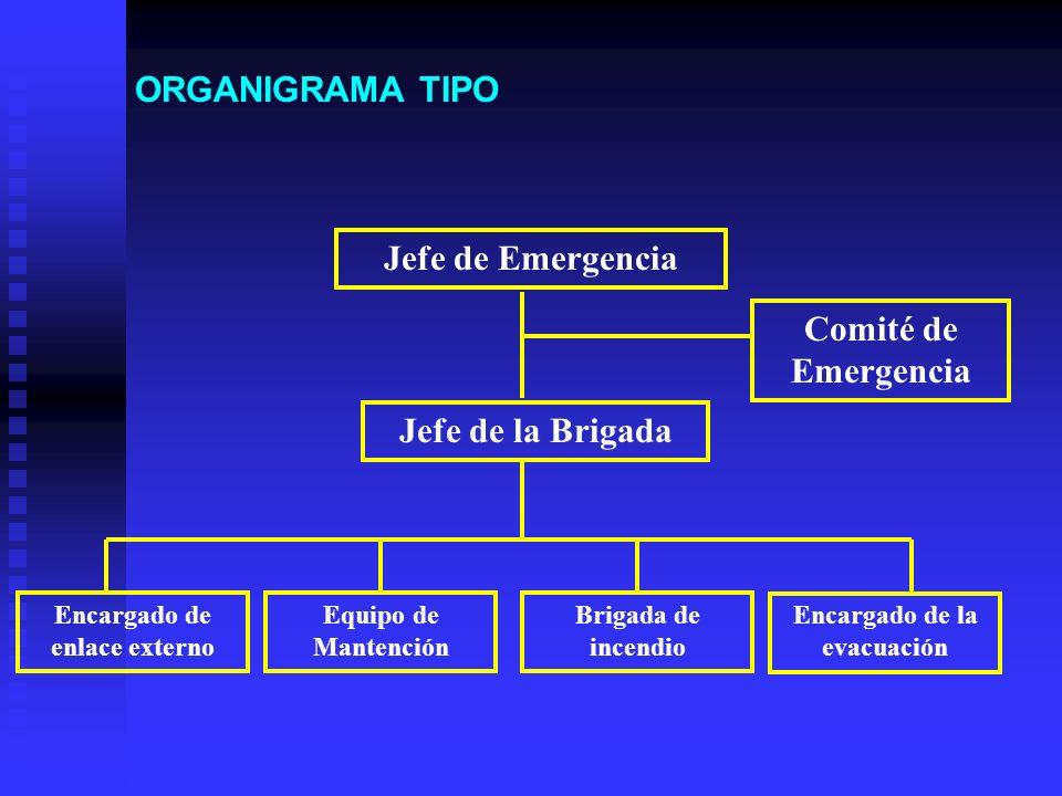 Encargado de enlace externo Encargado de la evacuación