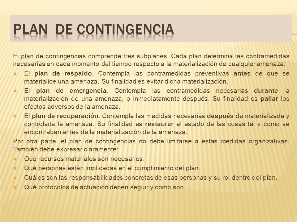 PLAN DE CONTINGENCIA