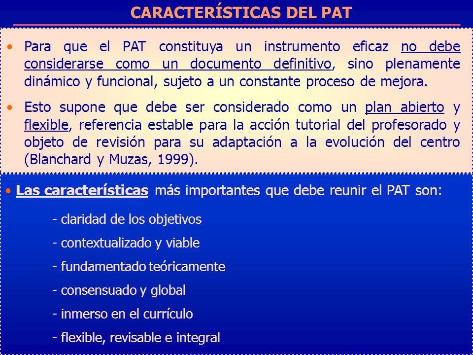 CARACTERÍSTICAS DEL PAT