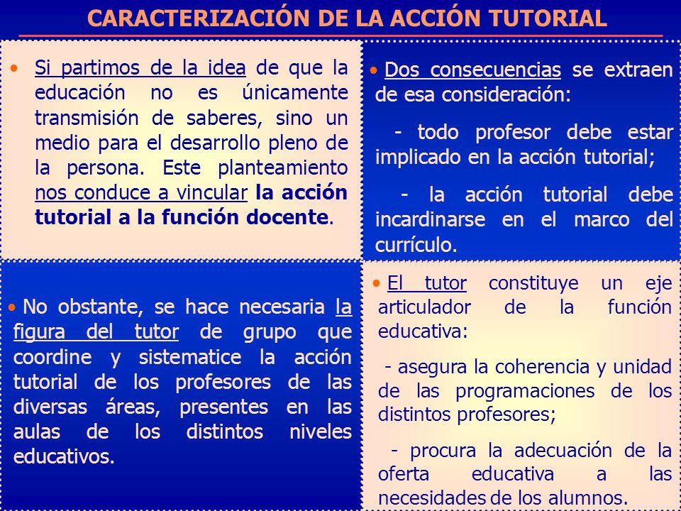 CARACTERIZACIÓN DE LA ACCIÓN TUTORIAL
