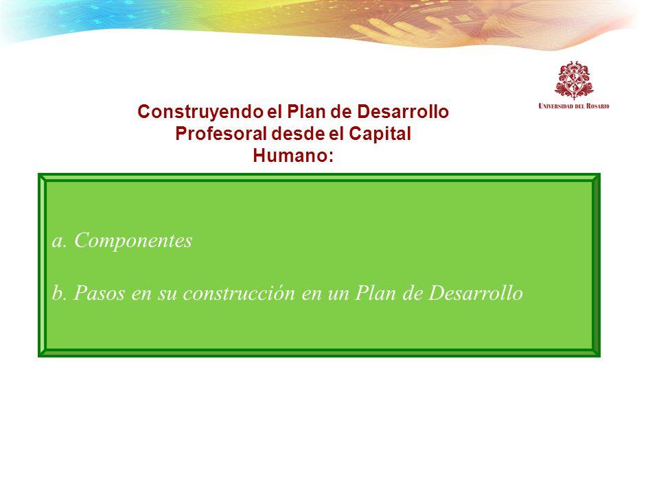 Construyendo el Plan de Desarrollo Profesoral desde el Capital Humano: