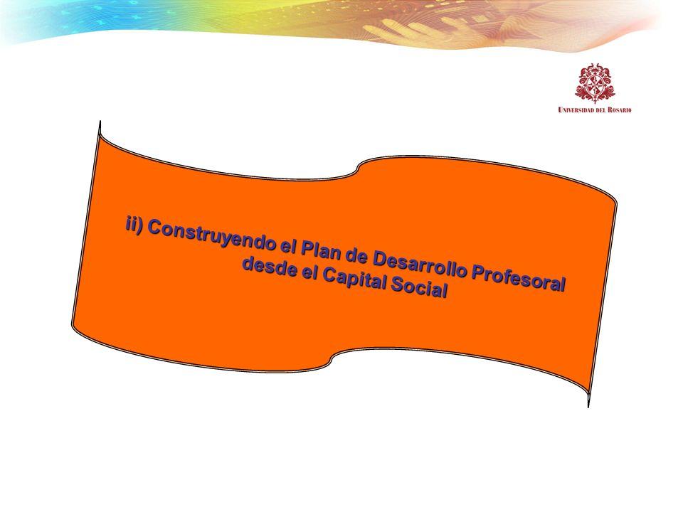 ii) Construyendo el Plan de Desarrollo Profesoral