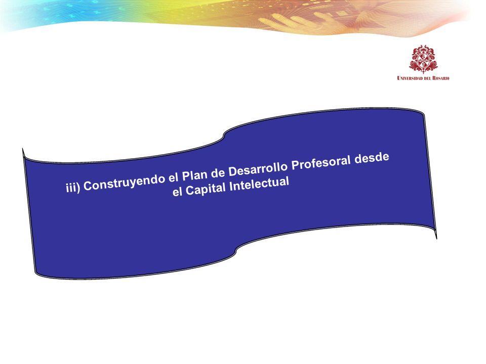 iii) Construyendo el Plan de Desarrollo Profesoral desde