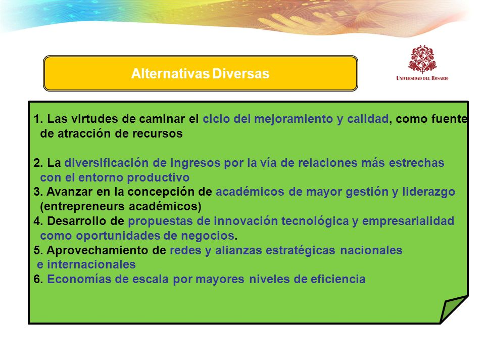 Alternativas Diversas