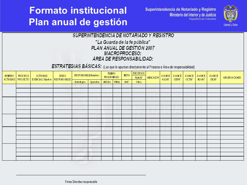Formato institucional