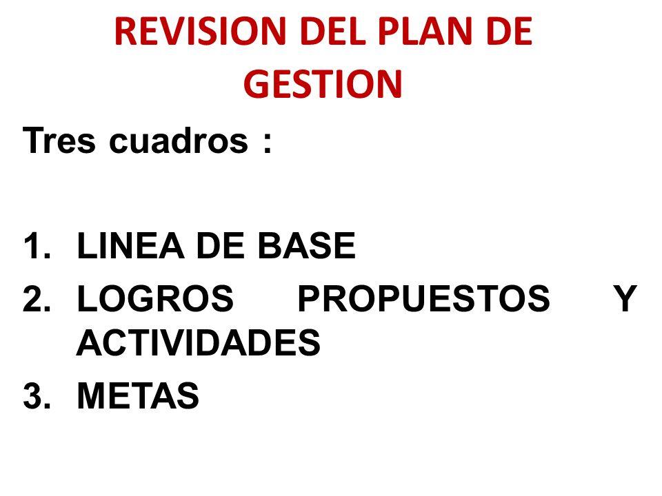 REVISION DEL PLAN DE GESTION