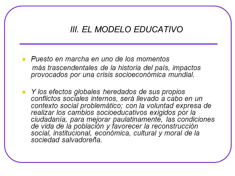 III. EL MODELO EDUCATIVO