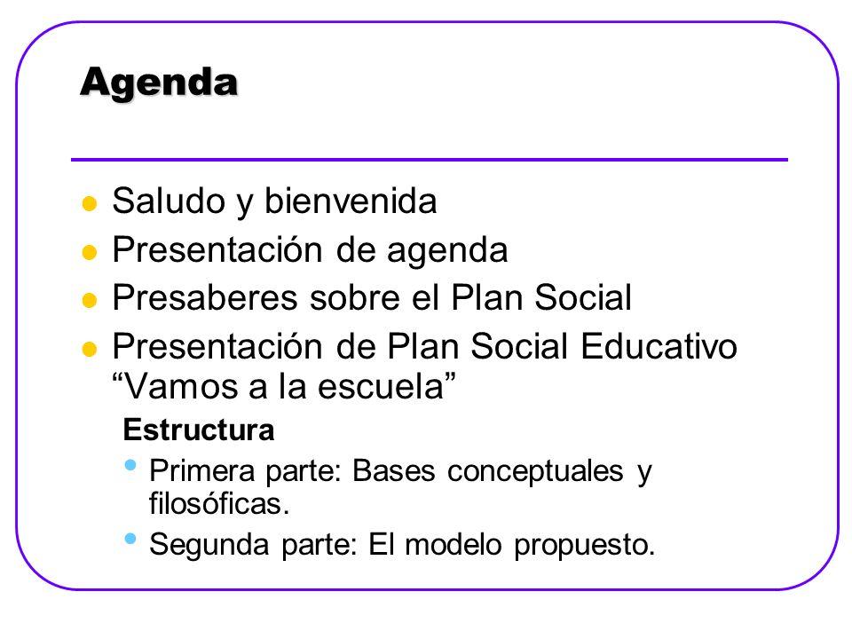 Agenda Saludo y bienvenida Presentación de agenda