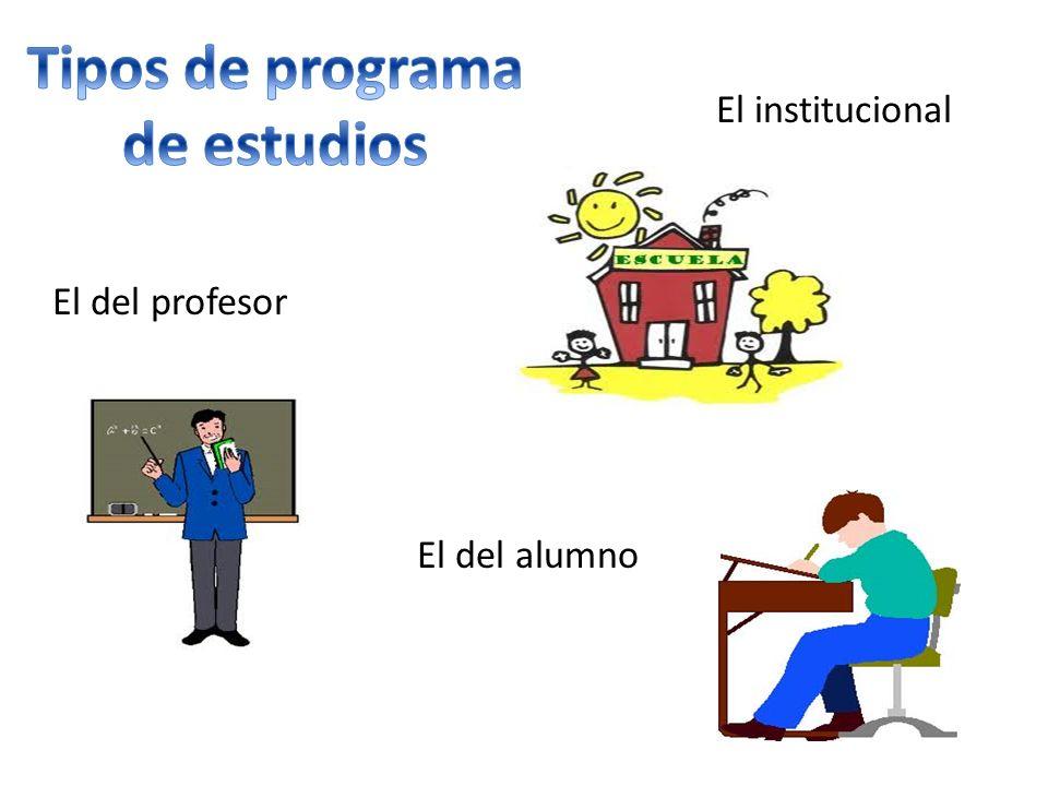 Tipos de programa de estudios