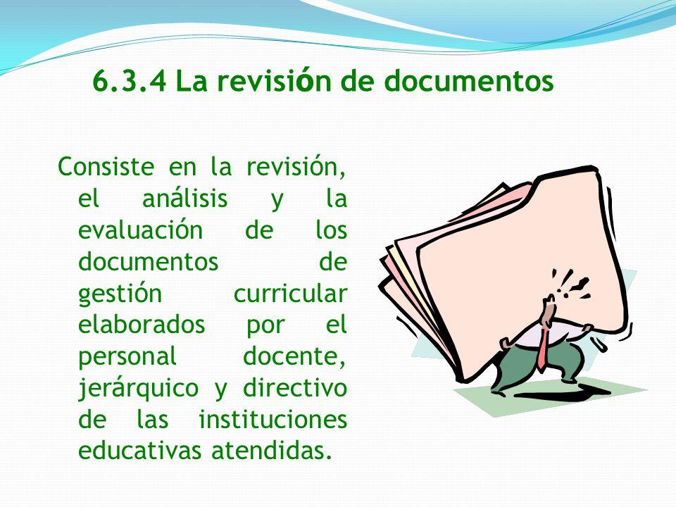 6.3.4 La revisión de documentos