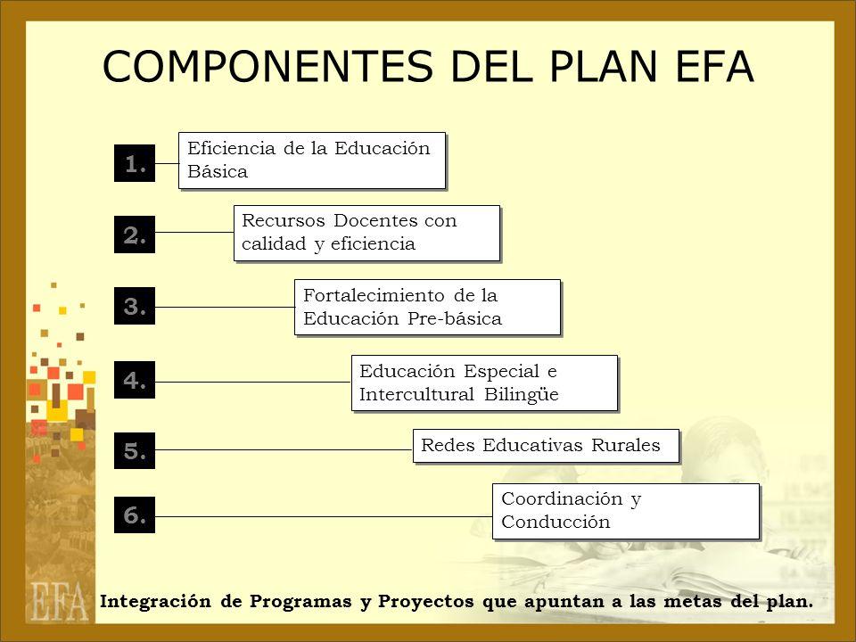 COMPONENTES DEL PLAN EFA