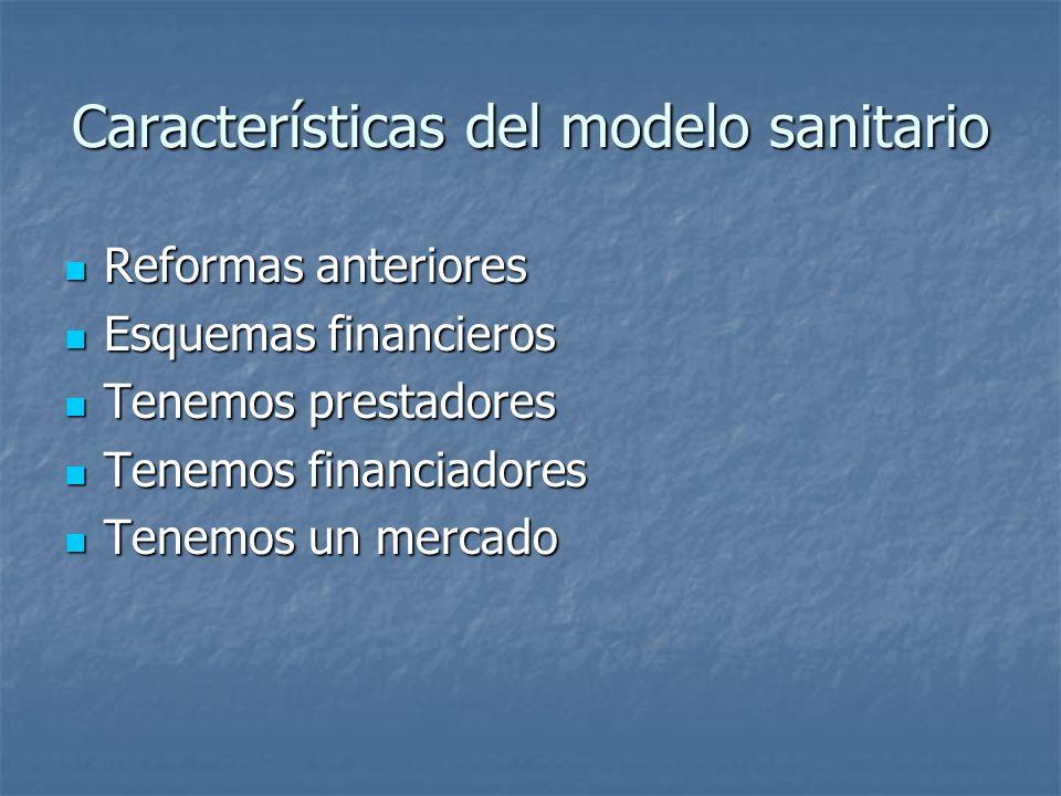 Características del modelo sanitario