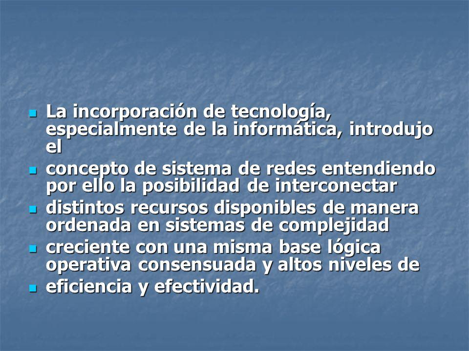 La incorporación de tecnología, especialmente de la informática, introdujo el