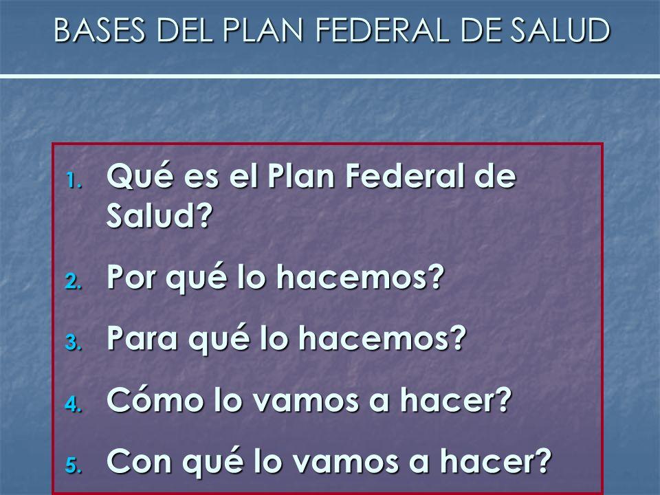 BASES DEL PLAN FEDERAL DE SALUD