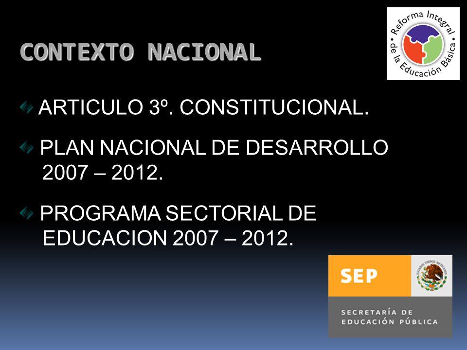 CONTEXTO NACIONAL ARTICULO 3º. CONSTITUCIONAL.