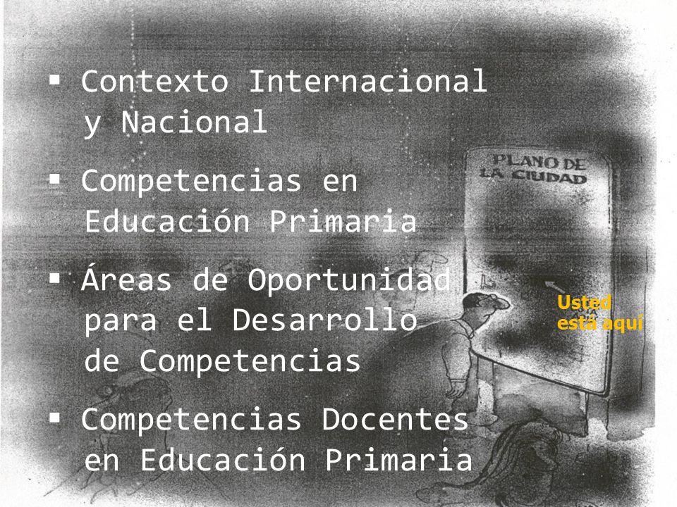 Contexto Internacional y Nacional Competencias en Educación Primaria