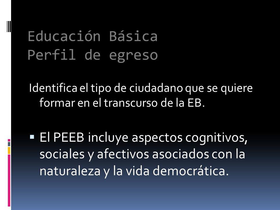 Educación Básica Perfil de egreso