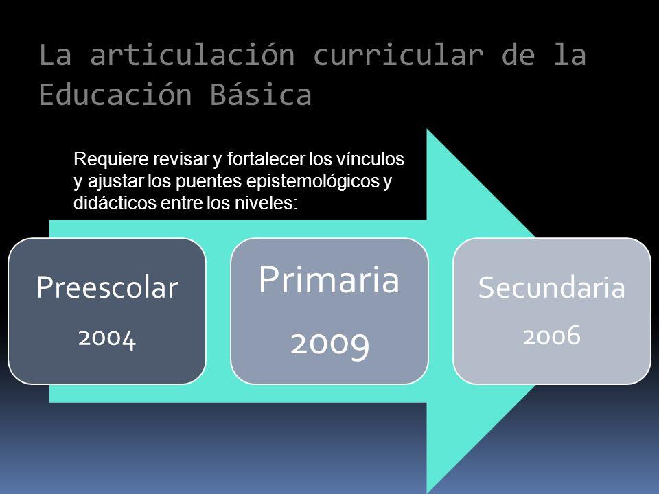 La articulación curricular de la Educación Básica