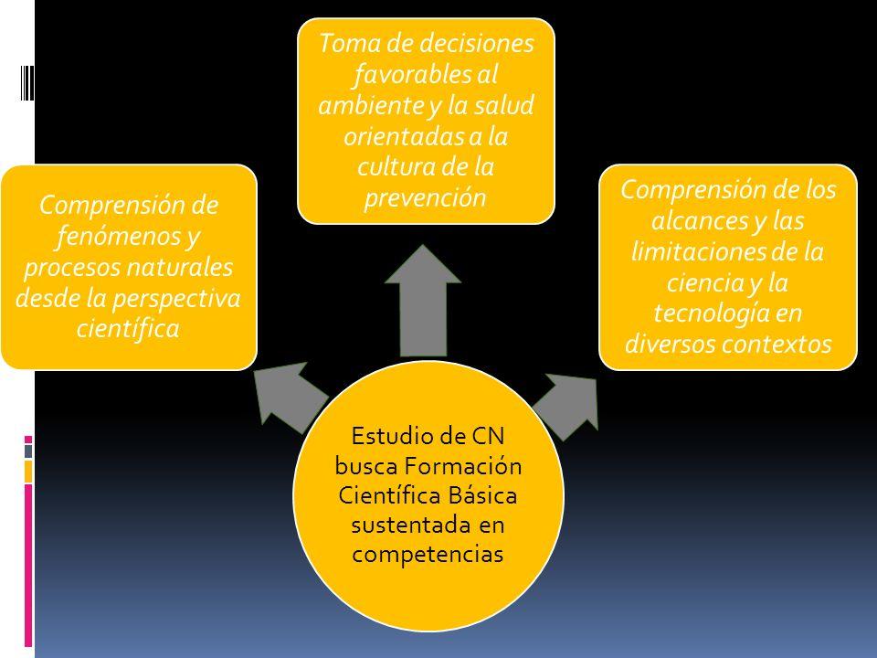 Estudio de CN busca Formación Científica Básica sustentada en competencias