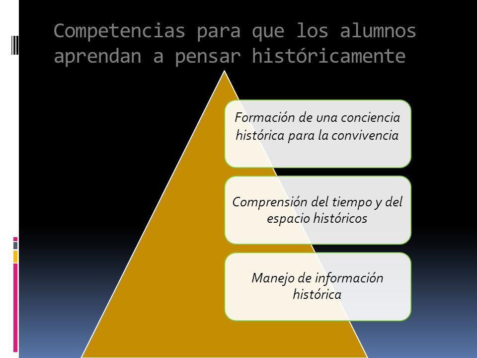 Competencias para que los alumnos aprendan a pensar históricamente