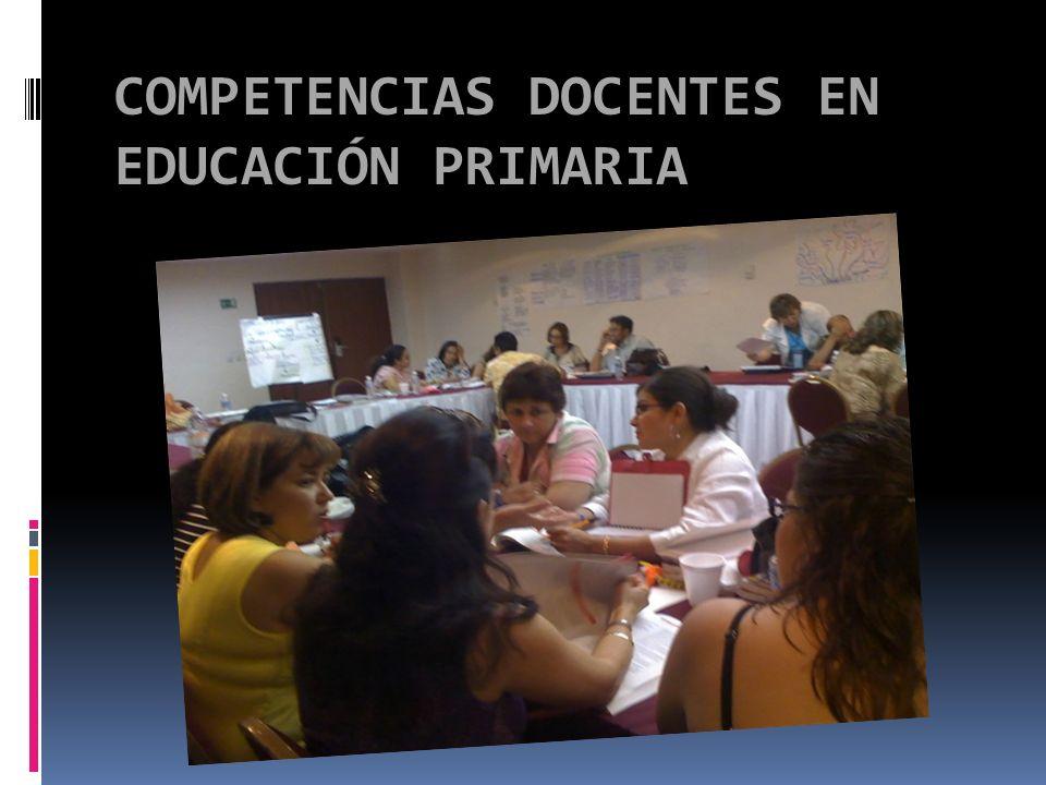 COMPETENCIAS DOCENTES EN EDUCACIÓN PRIMARIA