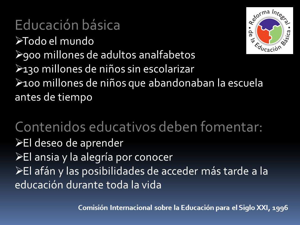 Contenidos educativos deben fomentar: