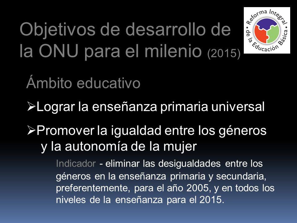 Objetivos de desarrollo de la ONU para el milenio (2015)