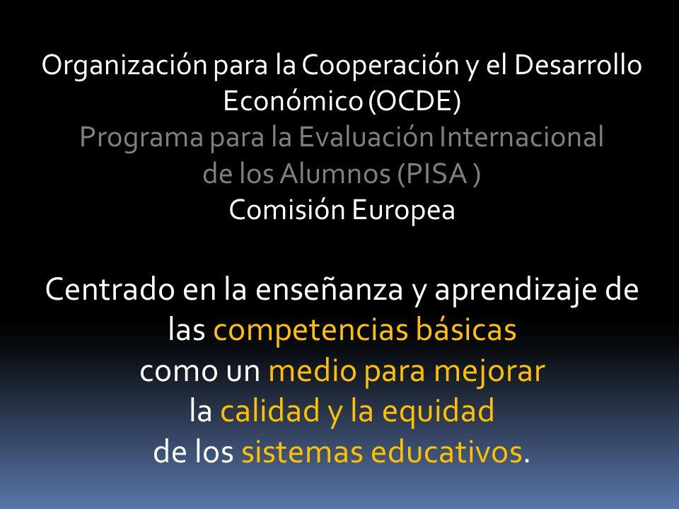 Centrado en la enseñanza y aprendizaje de las competencias básicas