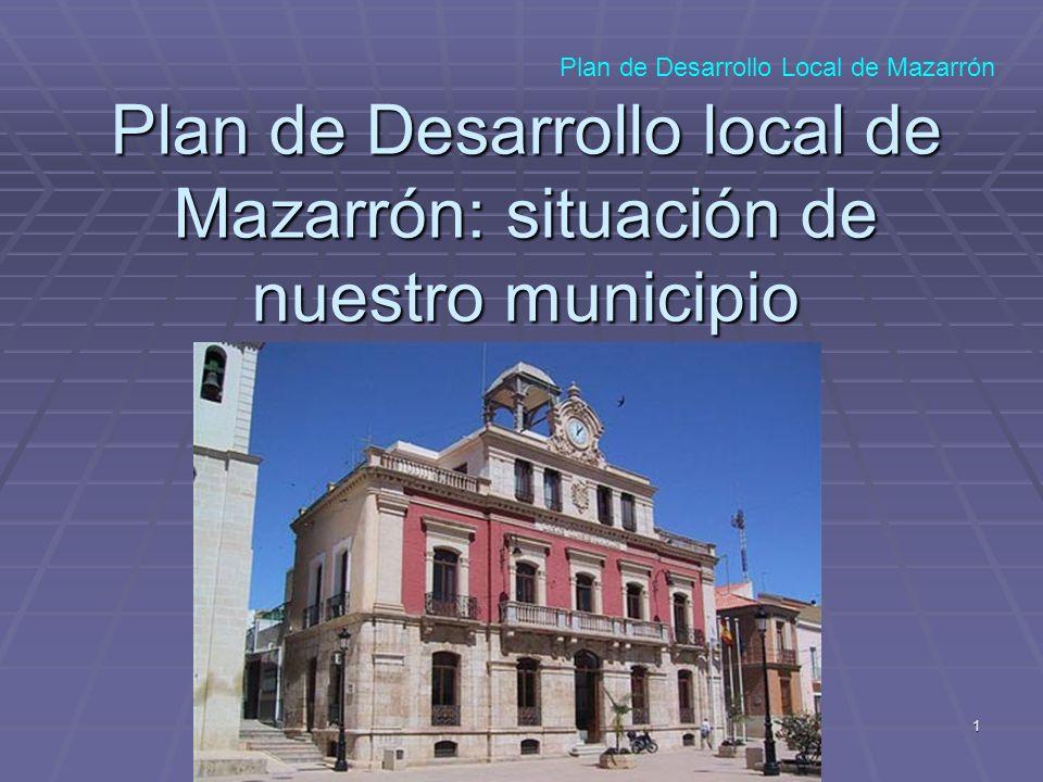 Plan de Desarrollo local de Mazarrón: situación de nuestro municipio