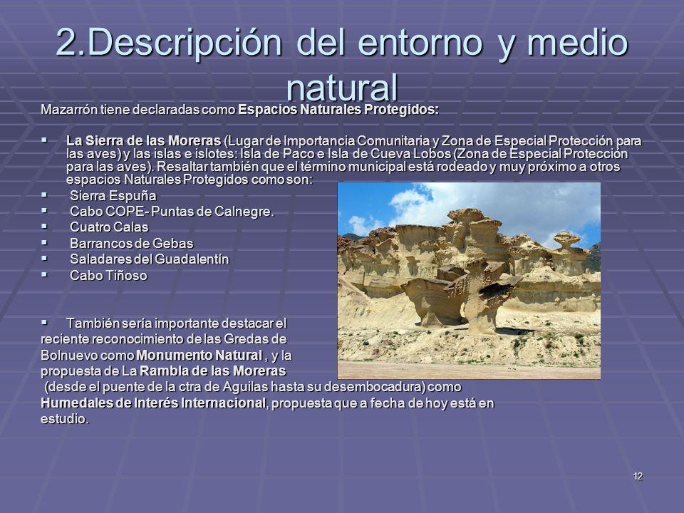 2.Descripción del entorno y medio natural