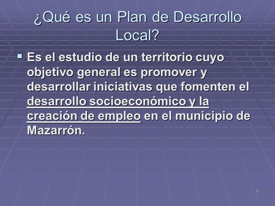 ¿Qué es un Plan de Desarrollo Local