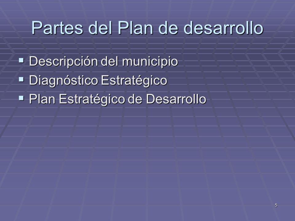 Partes del Plan de desarrollo