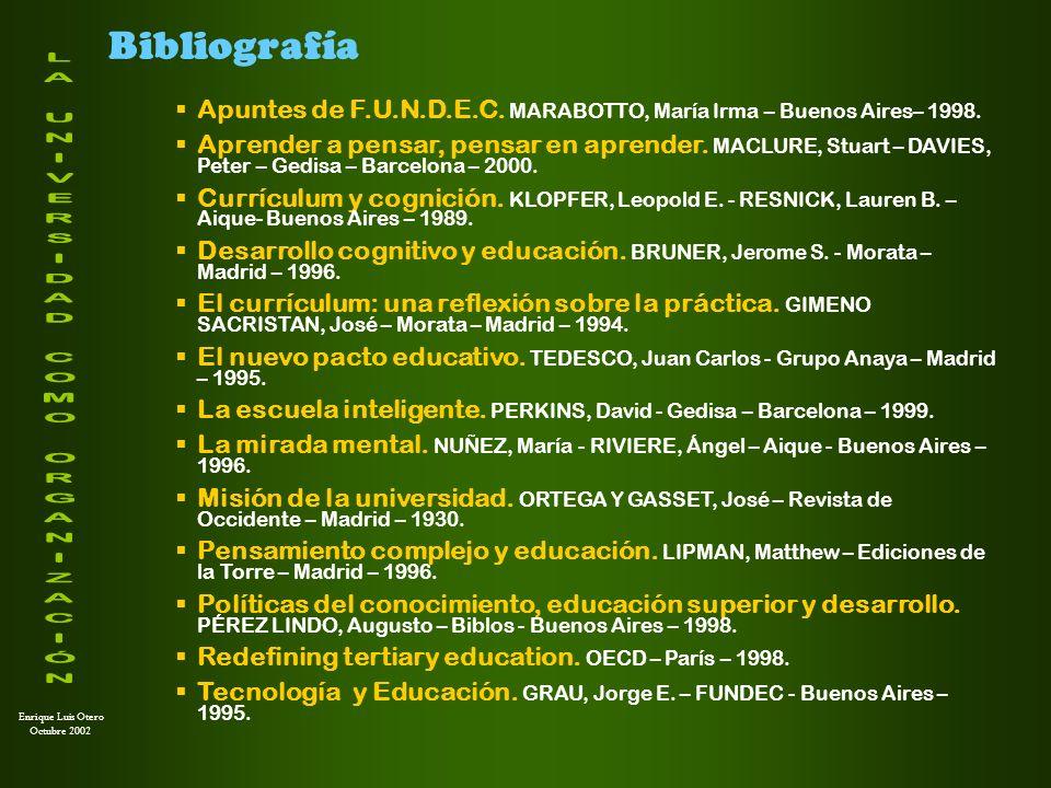 Bibliografía Apuntes de F.U.N.D.E.C. MARABOTTO, María Irma – Buenos Aires– 1998.