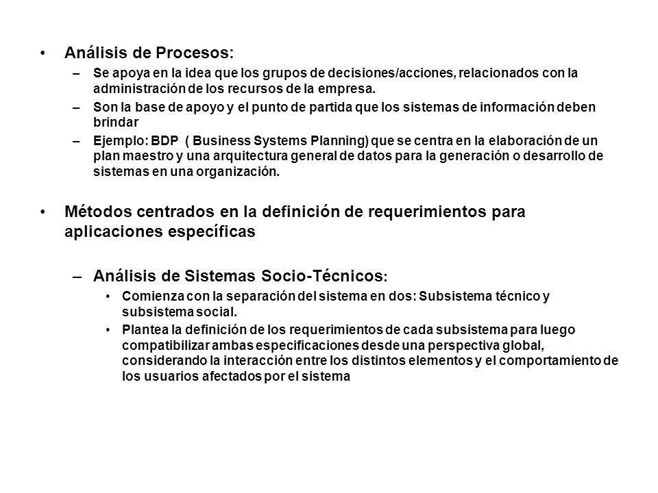 Análisis de Sistemas Socio-Técnicos: