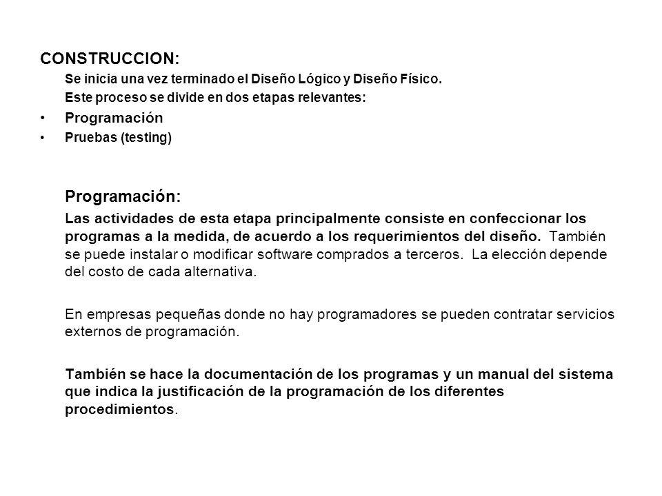 CONSTRUCCION: Programación