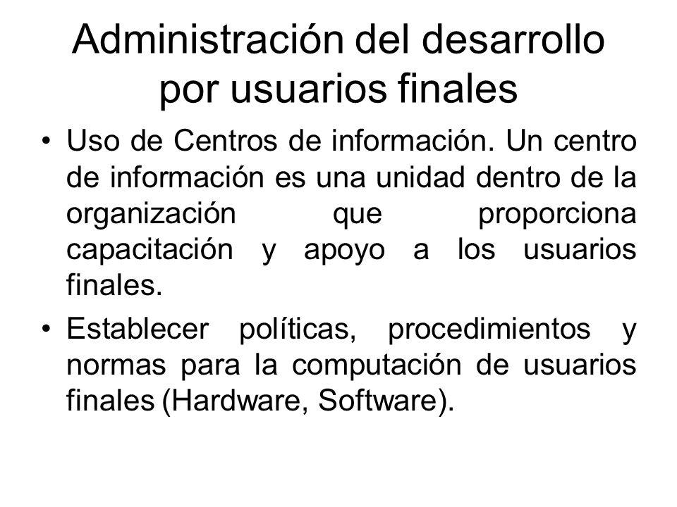 Administración del desarrollo por usuarios finales