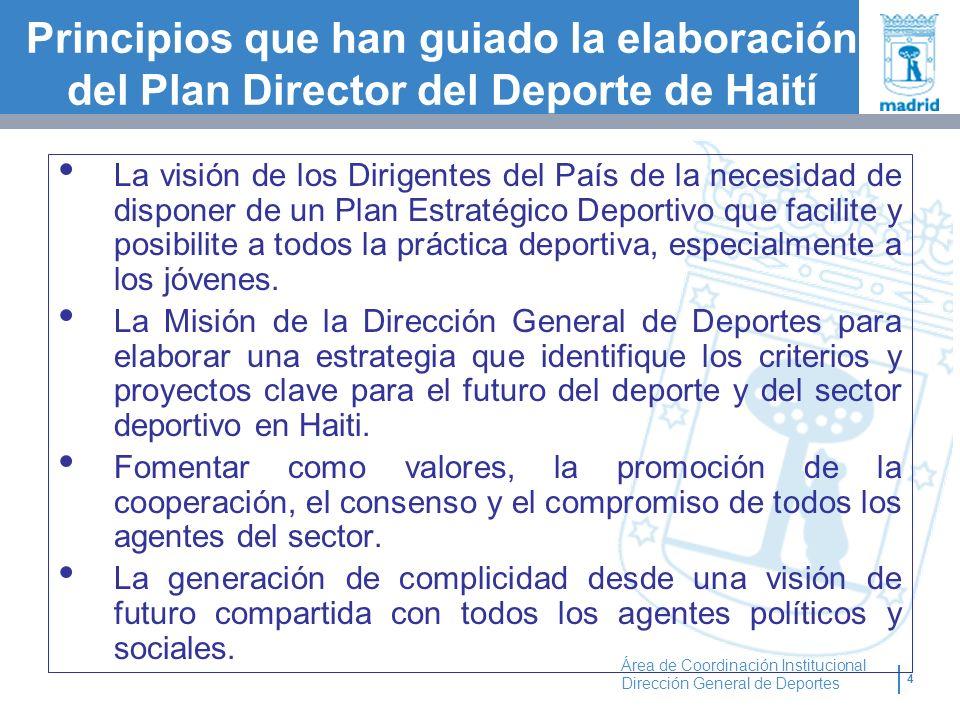 Principios que han guiado la elaboración del Plan Director del Deporte de Haití