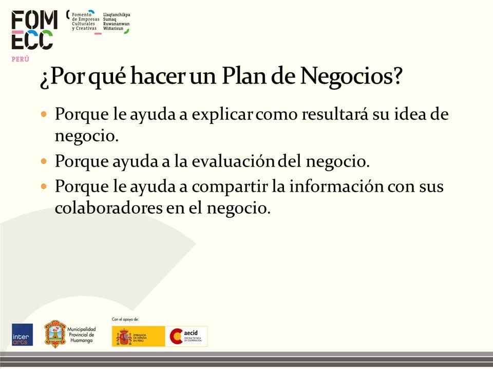 ¿Por qué hacer un Plan de Negocios