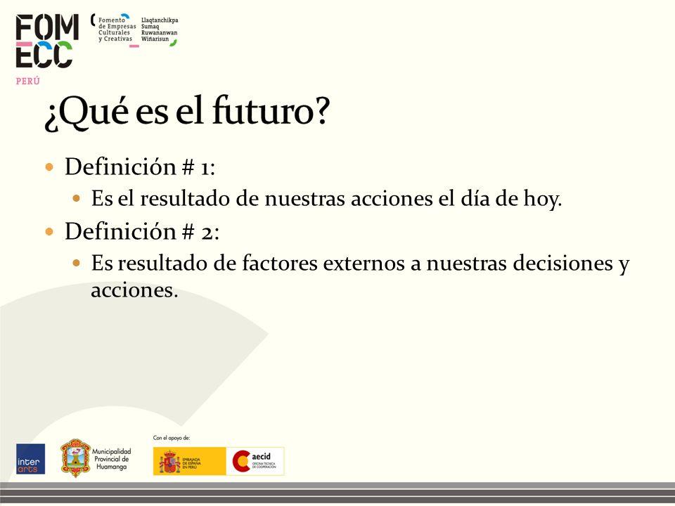¿Qué es el futuro Definición # 1: Definición # 2: