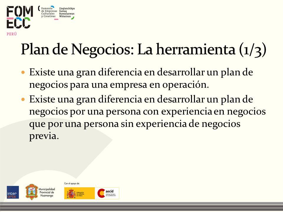 Plan de Negocios: La herramienta (1/3)